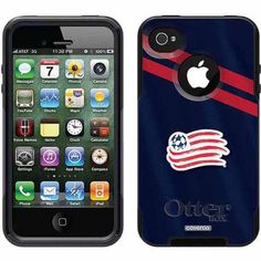 New England Revolution Jersey Design on OtterBox Commuter Series Case for Apple iPhone 4/4s