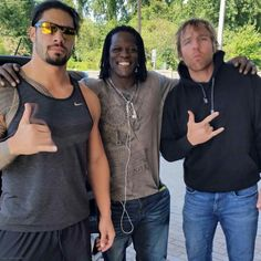 Roman Reigns, R-Truth and Dean Ambrose