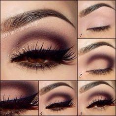 Eye Makeup Tips.Smokey Eye Makeup Tips - For a Catchy and Impressive Look Beautiful Eye Makeup, Pretty Makeup, Love Makeup, Makeup Inspo, Makeup Inspiration, Makeup For Black Dress, Makeup Goals, Makeup Tips, Beauty Makeup