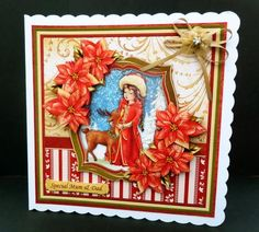 MAGIC OF CHRISTMAS Mini Kit with Decoupage on Craftsuprint designed by Janet Briggs - made by Bernie Mclaughlin
