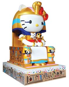 Artists create special works for first ever Hello Kitty retrospective, slated to open in Los Angeles this weekend.