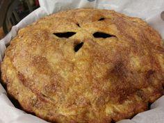 Blueberry pie homemade