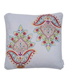Look what I found on #zulily! White Sanibel Medallion Throw Pillow by Levtex Home #zulilyfinds