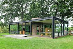 maison en verre et acier de plain pied- The glass house via philip johnson