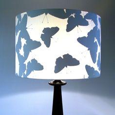lampenschirme ideen  schmetterlinge silhouetten