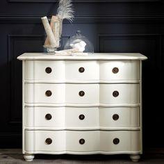 Commode 4 tiroirs ivoire | Maisons du Monde