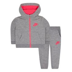 Baby Girl Nike Fleece Hoodie & Jogger Pants Set, Size: 24 Months, Grey Other Toddler Nike Outfits, Nike Baby Clothes, Girls Sports Clothes, Girls Fashion Clothes, Boy Outfits, Kids Fashion, Babies Clothes, Baby Girl Nike, Black Baby Girls