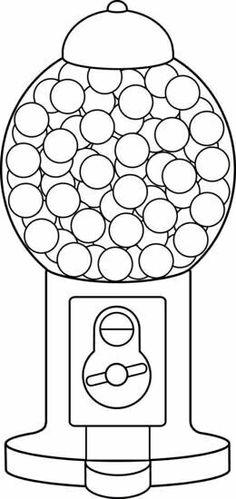 bubblegum machine template/color page