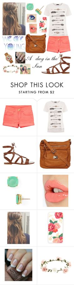 """Random"" by isabel-harsh ❤ liked on Polyvore featuring Gianvito Rossi, Kate Spade, Charlotte Tilbury, Sonix, OPI, Accessorize and Aéropostale"