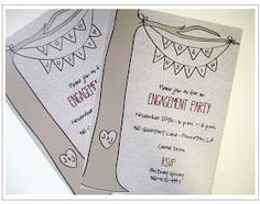 A Pinch of Lovely: Outdoor Engagement Party Invitations