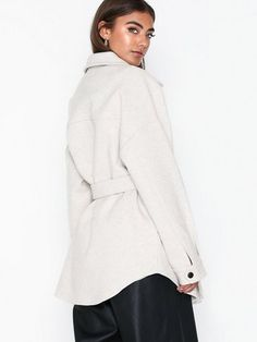 Shop NLY Trend Belted Shacket | Jackets - Nelly.com Shop Till You Drop, Cool Jackets, Bra Sizes, New Outfits, Party Dress, Tights, Belt, Womens Fashion, Clothes