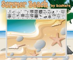 Summer Beach by Diamara on deviantART A positive set of summer vector brushes in the form of beach backgrounds