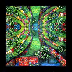 Green Town  - Friedensreich Hundertwasser