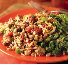 Kickin' Cajun Dirty Rice Enjoy the flavors of Louisiana with this Ground Beef and rice dish. This recipe is great on it's own or served alongside your favorite Cajun main dish. Cajun Dirty Rice Recipe, Cajun Rice, Cajun Recipes, Rice Recipes, Cooking Recipes, Recipies, Beef Dishes, Rice Dishes, Main Dishes