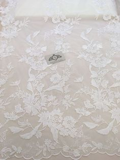 Ivory Lace Fabric, French Lace, Embroidered lace, Wedding Lace, Bridal lace, Veil lace, Lingerie Lace Chantilly Lace B00181 by ImperialLace on Etsy https://www.etsy.com/nz/listing/522605829/ivory-lace-fabric-french-lace