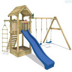 Speeltoestel Captain`s Tower, houten speeltoestel met dak en glijbaan,kijk in in onze shop voor een groot assortiment speeltoestellen tegen scherpe prijzen