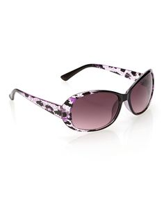 Love this Purple & Black Abstract Sunglasses by Steve Madden on #zulily! #zulilyfinds