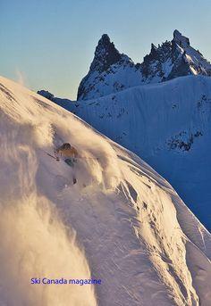 photo: CHRIS CHRISTIE, skier Rory Bushfield in Whistler backcountry