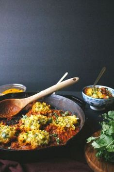 Chickpea Dumplings in Curry Tomato Sauce. My favorite healthy and easy vegetarian dinner for clean eating!