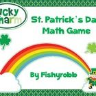 """$  This is a St. Patrick's Day themed math game called """"Lucky Charm.""""  If your students like to play Race to 10 or Race to 100, they will love this ga..."""