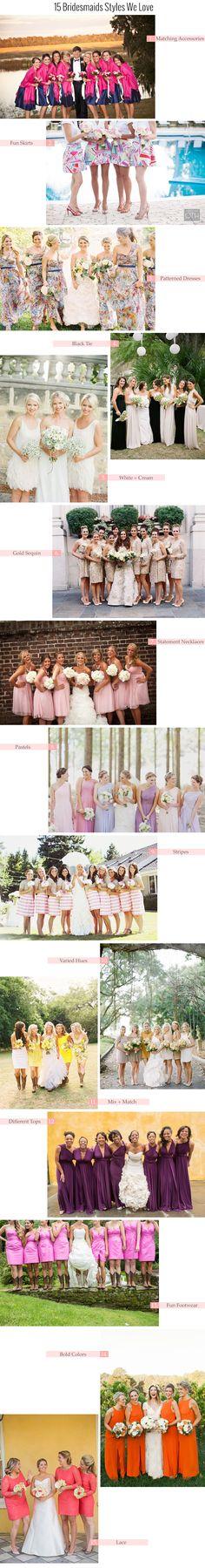 15 Bridesmaids Styles We Love | Coastal Bride