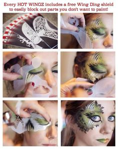How to use Hot Wingz Stencils—Face Painting Tips Shop