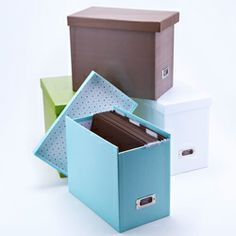 "See Jane Work Basic File Box....i just love how the items on this site all fit together and ""disguise"" items in the office that may not not necessarily be ""pleasing to the eye""......"