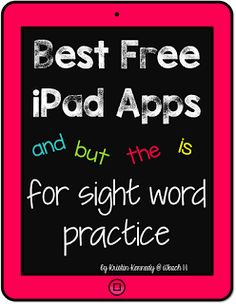 iPad Apps and Activities for Sight Word Practice