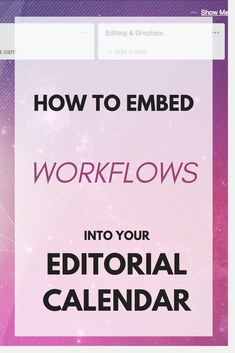 Advanced Editorial Calendar w/ Workflows in Trello Content Marketing Strategy, Marketing Tools, Business Tips, Online Business, Business Quotes, Online Entrepreneur, Best Blogs, Blogging For Beginners, Make Money Blogging