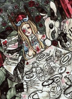 SEEARTDATCOM: As ilustrações góticas e sombrias de Drawkill