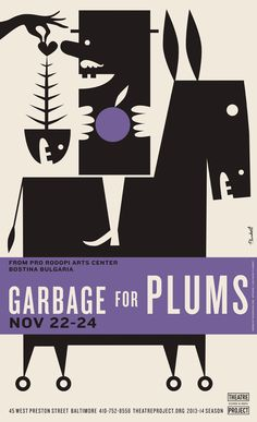 Poster by David Plunkert: Garbage for Plums