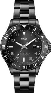 Timex Men's T2P028KW Ameritus Sport Black Sunray Dial, Black Ion-Plated Stainless Steel Bracelet Watch Timex. $59.96. Mineral glass crystal. Black stainless steel bracelet. Aluminum top ring. Water-resistant to 50 M (165 feet). Black sunray dial