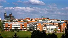 Univerzita Hradec Králové Cathedral, Multi Story Building, Mansions, House Styles, Home Decor, City, Decoration Home, Manor Houses, Room Decor