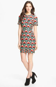 patterns for spring / Milly Piped Silk Sheath Dress | Nordstrom