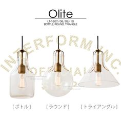 Olite[オリテ]■ペンダントライト|天井照明【インターフォルム】 Triangles, Place Cards, Place Card Holders, Bottle, Interior, Home Decor, Decoration Home, Indoor, Room Decor