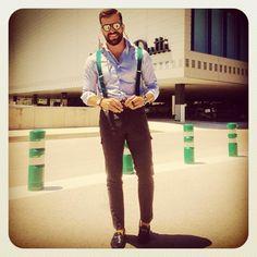 bcnpreppy:    Great summer outfit by @cayetanus | #preppy #preppystyle #bcnpreppy #pijo #espreppy #ep #shirt #cargo #pants #braces #sockless #loafers #mocasines #sunglasses #beard #fashion #man #menstyle #menswear #mensfashion #moda #gq #ootd #style #instabeard #instafashion #instapreppy #fashionista #fashionblogger (en Barcelona Spain)