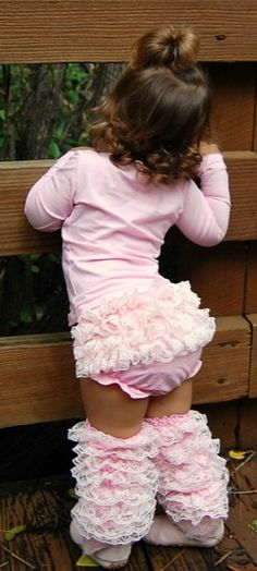 Mia Belle Baby Must Have Pink Baby Leg Warmer and Bloomer Two Piece SetbrSizes Newborn - 24m