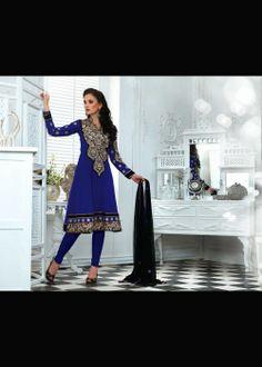 Fascinating Blue Salwar Kameez