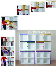 extra seating and table, small spaces design, clever idea, bookcase