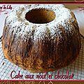 Cake aux noix et au chocolat