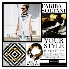 """FARIBA SOLTANI CONTEST"" by samirhabul ❤ liked on Polyvore featuring Pussycat and faribasoltani"