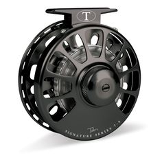 Tibor Signature Series Fly Reels Jet Black with Graphite Hub