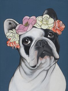 The major breeds of bulldogs are English bulldog, American bulldog, and French bulldog. The bulldog has a broad shoulder which matches with the head. I Love Dogs, Cute Dogs, Animals And Pets, Cute Animals, Bulldog Tattoo, French Bulldog Art, French Bulldogs, Crown Drawing, Desenho Tattoo