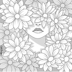 Free Adult Coloring Pages, Cute Coloring Pages, Coloring Pages To Print, Free Printable Coloring Pages, Coloring Books, Coloring Apps, Mandala Coloring, Art Drawings, Sketches