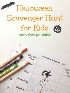 "halloween scavenger hunt for kids - a fun way to take the ""scary"" out of Halloween for kids. A free printable Halloween scavenger hunt. Tally up everything you see as you play outdoors this Halloween"