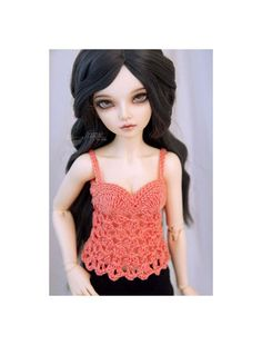 Salmon crochet lacy top sleveeless shirt tank top for by frezje