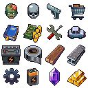 Title:	Infectonator Survivor icons Pixel Artist:	saiko-raito