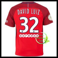 Fotballdrakter Paris Saint Germain PSG DAVID LUIZ #32 Bortedraktsett 2016-2017