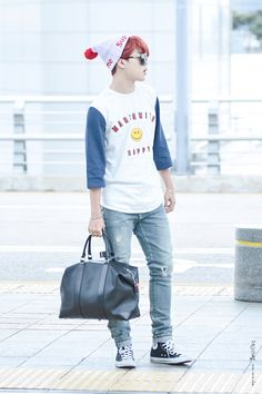 [AIRPORT] 150708: BTS Park Jimin at Incheon Airport #bts #bangtan #bangtanboys #fashion #style #kfashion #kstyle #korean #kpop