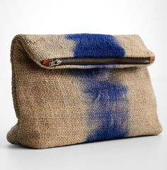 mercado global jute clutch at RedEnvelope Burlap Bags, Jute Bags, Hessian, Boho Bags, Linen Bag, Fabric Bags, Handmade Bags, Handmade Leather, Small Bags
